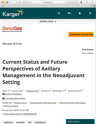 Current Status and Future Perspectives of Axillary Management in the Neoadjuvant Setting